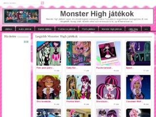 Online Monster high játékok